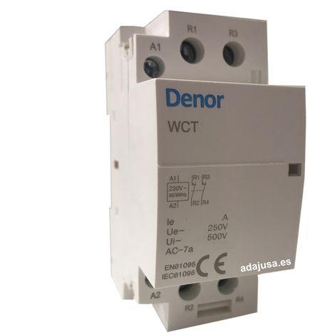 Contactor modular 63A 2Polos cerrados 230Vac