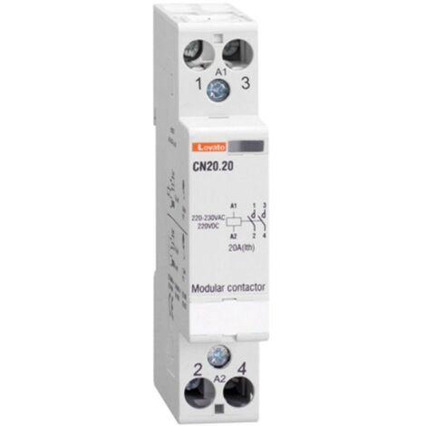 Contactor Modular Lovato 20A en AC1 deber 2NO 24 v ac/DC 1 Formulario de CN2020024