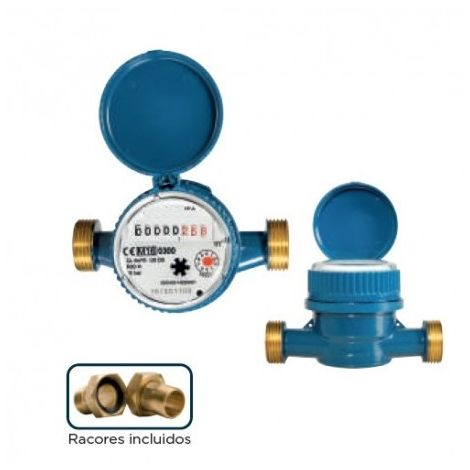 Contador agua de chorro único esfera seca