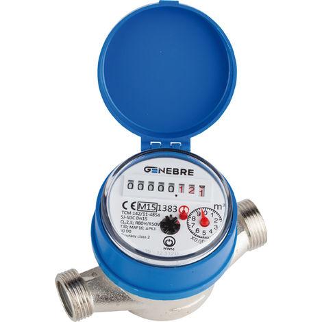 Contador agua Genebre QN-1,5F 6110C 05 C/Racores