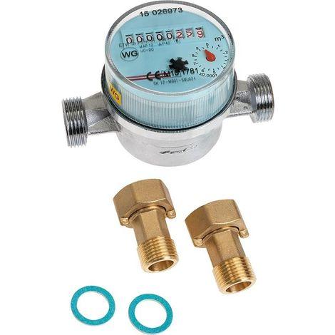 """Contador de agua fría 3/4 """"incluyendo atornillar QN 2.5"""