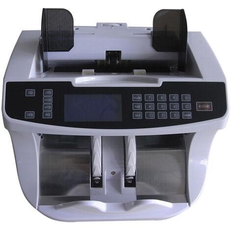 Contador de billetes mixtos - Detecta billetes falsos y Valora, hasta 1600 billetes por minuto, funciona con los nuevos billetes €, Yatek SE-6000