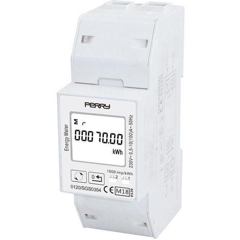 Contador de energía con pantalla LCD Perry 1SDSD05CEM2MID