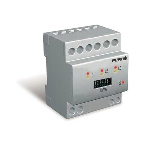 Contador de energía trifásico 30A 4 din Perry 1SDSD08CET/4