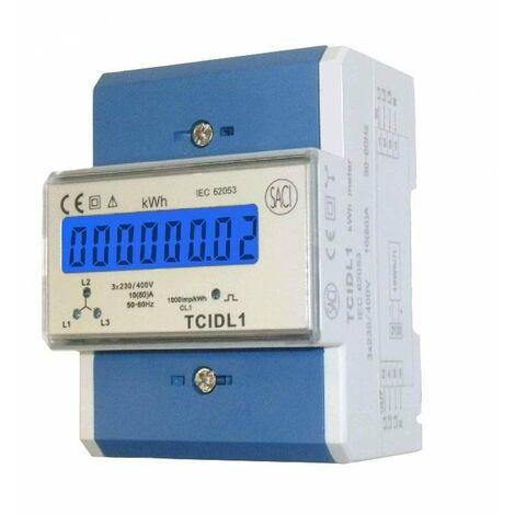Contador digital SACI trifasico modular TCIDL MEDIDA DIRECTA 80A