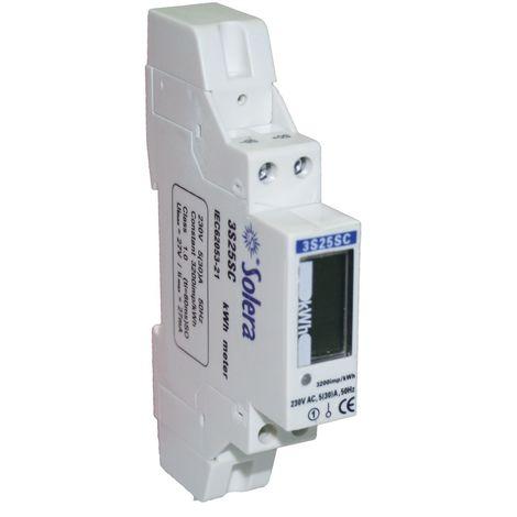 Contador monofásico energía activa clase unipolar 230V AC SOLERA CONT30R