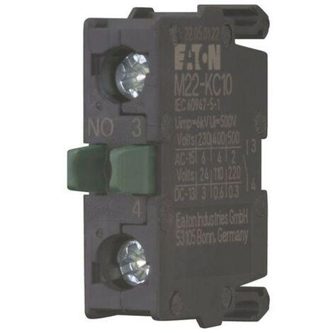 Contatto ausiliario Eaton M22-KC10 NA a Vite Fissaggio di base 216380