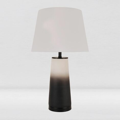 Contempoary White Grey Ombre Ceramic Table Lamp Bedside Lights