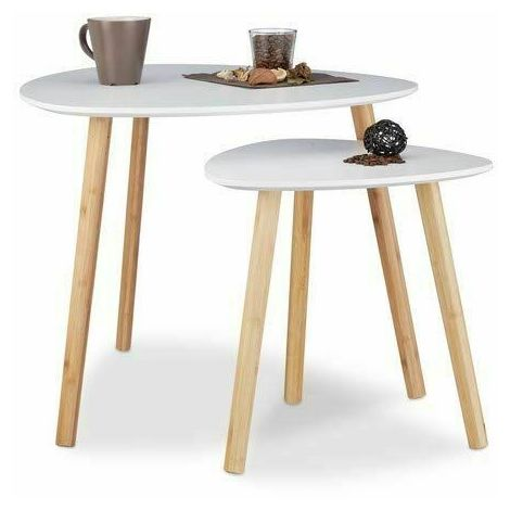 Contemporary Coffee table with modern design. Set of 2 stackable coffee tables