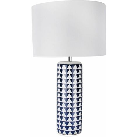 Contemporary Gold or Navy Blue 52cm Ceramic Table Lamp Bedside Lights