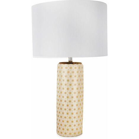 Contemporary Gold or Navy Blue Moorish 52cm Ceramic Table Lamp Bedside Lights