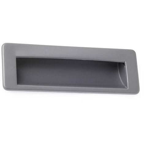 Contemporary metal cast-in pull handle in aluminium finish