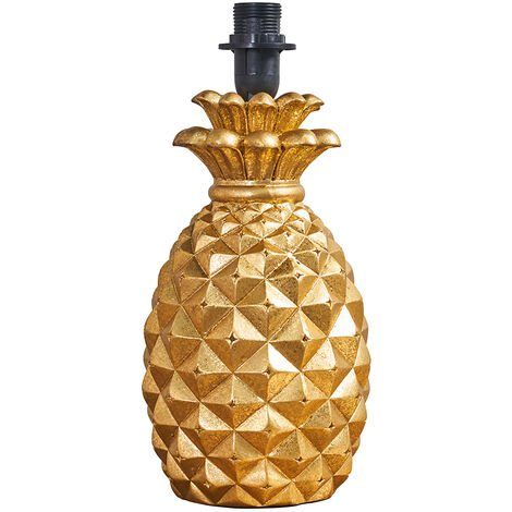 Contemporary Pineapple Design Table Lamp Base In A Gold Effect Finish