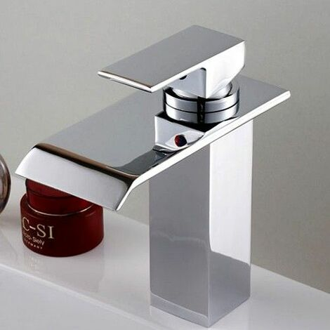 """main image of """"Contemporary single-lever basin tap with cascading spout"""""""