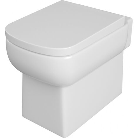 Contemporary Square Wc Back To Wall Toilet Pan And Soft Close Seat