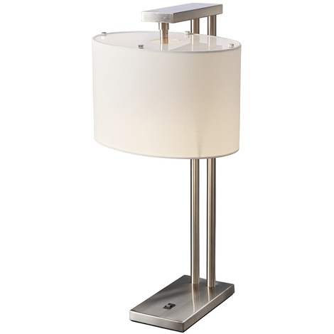 Contemporary Table Lamp In Brushed Nickel by Washington Lighting