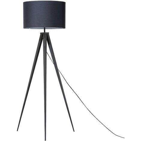Contemporary Tripod Floor Lamp Black Legs and Shade Stiletto