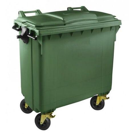 Contenedor Basura 770 litros Tapa Plana (Color Verde)