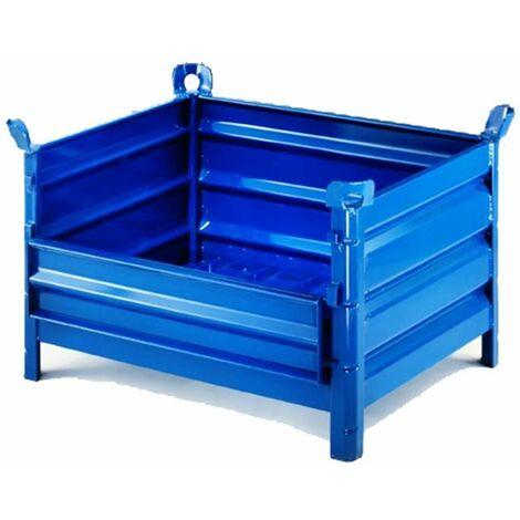 Contenedor de chapa con puerta 800*1000 mm.en color azul