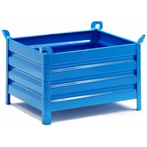 Contenedor de chapa sin puerta 800*1000 mm.en color azul