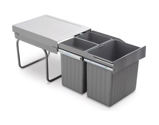 Contenedor de extracción manual 2 o 3 vasos 3 vasos 16 + 7,5+7,5 LT. - EMUCA