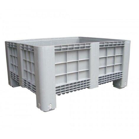 Contenedor de plástico de 465 litros en PE calidad alimentaria con 4 pies