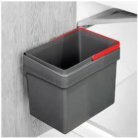 Contenedor de reciclaje Recycle Emuca para fijación a puerta con vaso de 15L