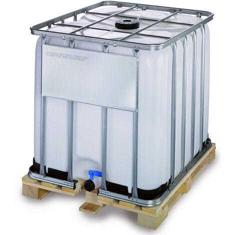 Contenedor IBC 1000 litros con palet de madera de 4 entradas