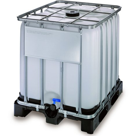 Contenedor IBC 1000 litros con palet de plastico homologado de alta densidad