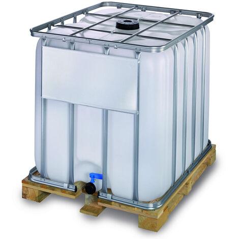 Contenedor IBC 600 litros con palet de madera encajable