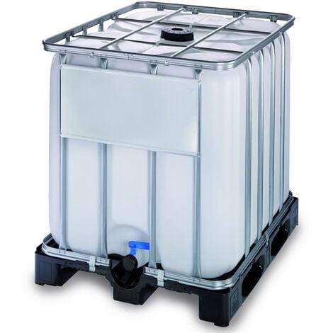 Contenedor IBC 600 litros con palet de plástico de alta densidad