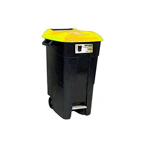 Contenedor residuos 120 litros + pedal amarillo TAYG