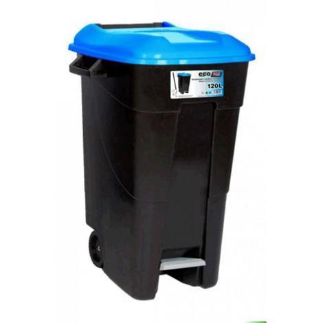 Contenedor residuos 120 litros + pedal azul TAYG