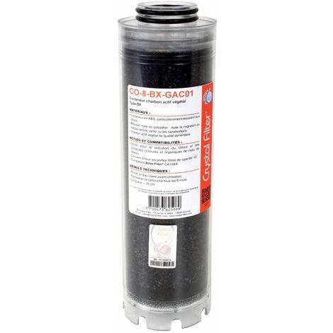 """Conteneur de charbon actif végétal 10"""" BX Crystal Filter® CO-8-BX-GAC01 - Compatible LA 10 BX"""