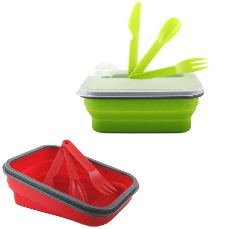3/contenitori per alimenti pieghevoli per essere compatti da portare in viaggio