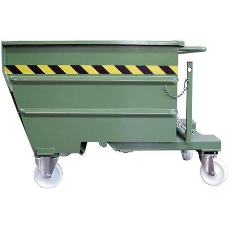 Contenitore ribaltabile per trucioli con ruote Fervi C030/0750
