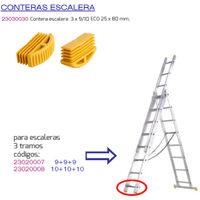 Contera escalera 3 tramos 9/10 peldaños eco 25x80 mm.