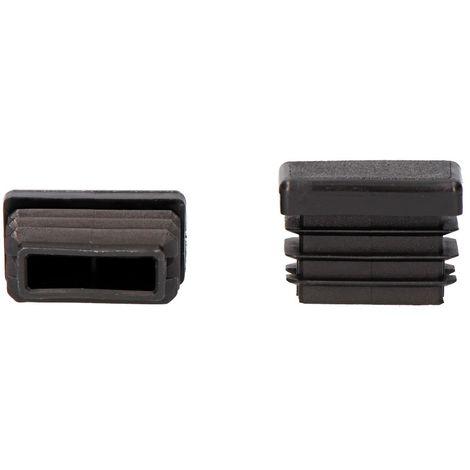 Contera interior rectangular con aleta 30x20mm negra