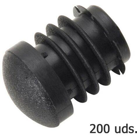 contera plastico redonda interior negra bolsa 200 unidades