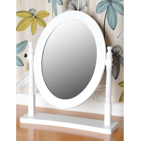 Contessa Dressing Table Mirror - White