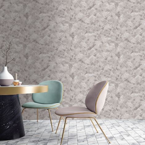 """main image of """"Contour Taupe Travertino Wallpaper (Was £16)"""""""