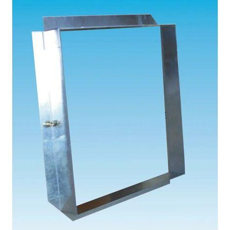 Contre-cadre acier galvanisé 800x400mm CCG pour grille de ventilation extérieure GRE (non inc) UNELVENT 872686
