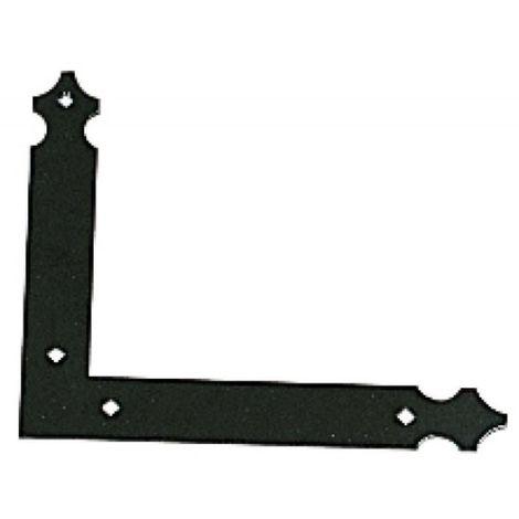 Contre-équerre finition noir pour volets aluminium et PVC