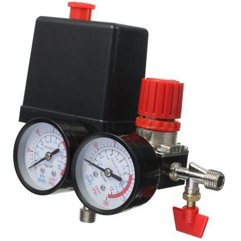Contr?le Interrupteur Vanne Régulateur Pression Air Compresseur + 180PSI Jauge