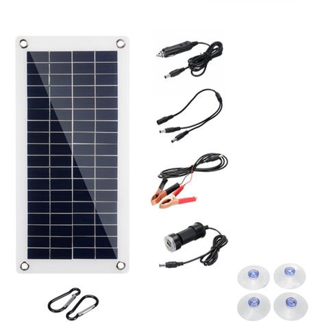 Contr?leur flexible monocristallin de chargeur de panneau solaire 12V 50W Watt Panneau solaire 50W (530x290mm) uniquement