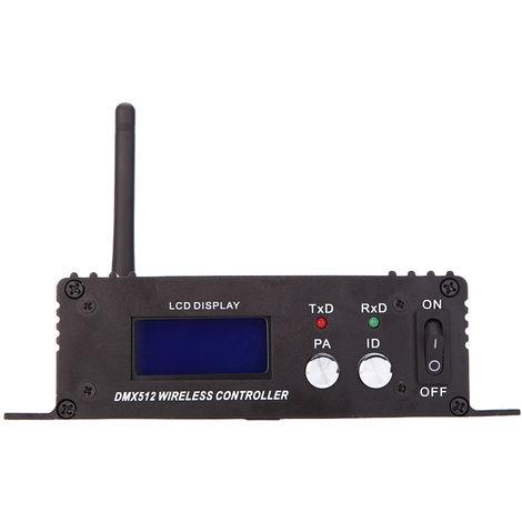 Control de iluminacion 2.4G DMX 512 Receptor Transmisor mando inal¨¢mbrico Pantalla LCD de alimentacion ajustable Repetidor