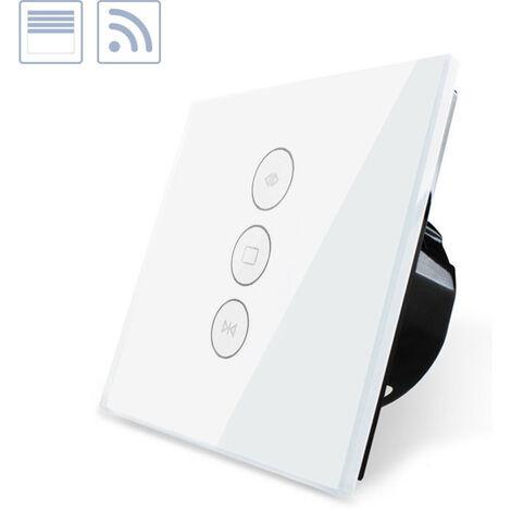 Control de persianas táctil WiFi-Voz, blanco