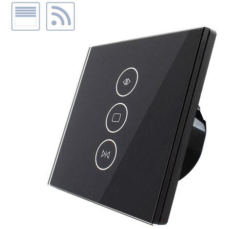 Control de persianas táctil WiFi-Voz, negro