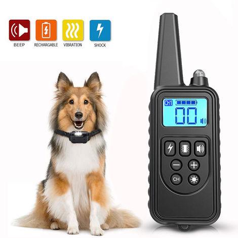 Control remoto del transmisor de adiestramiento canino, alcance de 800 metros, negro