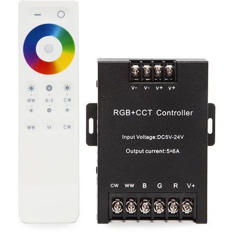 Controlador 2.4G Táctil RGB+Cct 5 Canales Mando a Distancia (TB-DST05)